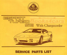 ESPRIT TURBO MANUAL LOTUS SHOP SERVICE PARTS LIST CATALOGUE SE