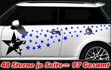 97 Sterne Star Auto Aufkleber Set Sticker Tuning Shirt Stylin WandtattooTribel o