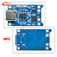 10PCS 5V 1A 18650 Lithium Battery Charger Type-C Micro USB Charging Board TP4056
