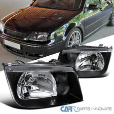 Fit VW 99-05 Jetta Bora Mk4 MkIV Black Headlights+Built In Fog DRL Lamps Pair