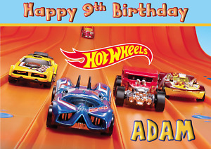 Hotwheels - A5 Personalised Birthday Card - ANY - Age Relation Name
