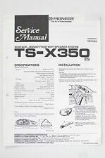 PIONEER TS-X350 4 Way Speaker System Service-Manual/Anleitung/Schaltplan! o68