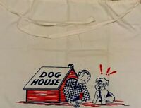 Vintage BBQ Apron Man In Doghouse Dog Retro Original Barbecue 1950's Humor 19431