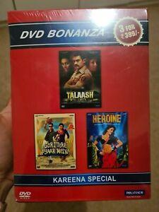 Kareena Kapoor 3 Bollywood Movie Indian Dvd, Brand New