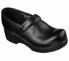Skechers Women's Work Tone-ups EH Safe Slip Resistant Leather Clogs Shoes 76501