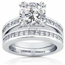 2.70ct Delicated Diamond Solitaire Halo Engagement Ring Real 14k White Gold