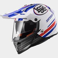 LS2 MX436 PIONEER QUATERBACK WHITE/BLUE/RED adventure MX Style Sun visor Helmet