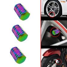 Neo Chrome Aluminum Tire/Rim Valve/Wheel Air Port Dust Cover Stem Cap/Caps 4PCS