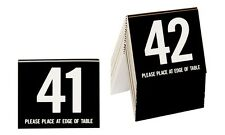 Plastic Table Numbers 41-60, Tent Style, Black w/white number, Free shipping