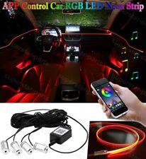 6M Rgb Led Car Interior Fiber Optic Neon El Wire Strip Light Atmosphere App