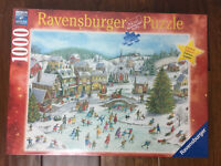 "NEW! Ravensburger ""Playful Christmas Day"" 1000 Piece Jigsaw Puzzle Limited 2019"