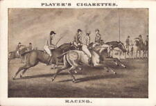 players cigarettes card - ( old sporting prints ) racing  !