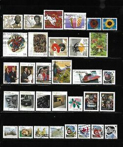 Canada year 2011 all different used stamps off paper #5