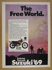 1969 Suzuki TS-250 SAVAGE Motorcycle color photo vintage print Ad