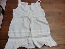 robe fillette fin XIXème en organdi fait main 2 ans