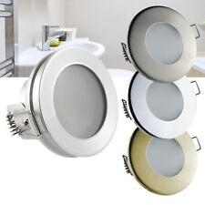 LED Einbaustrahler Feuchtraum Nassraum Downlight Bad Dusche IP44-IP65 12V / 230V