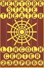 """ROBERT INDIANA New York State Theater, Lincoln Center 45.5"""" x 30"""" Serigraph"""