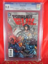 DC Comics 3-D VARIANT Forever Evil #1 CGC 9.8 LENTICULAR 3-D COVER White Pages