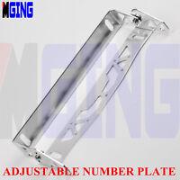 Universal Adjustable License Plate Bracket Mount Relocate Holder Bar  Silver