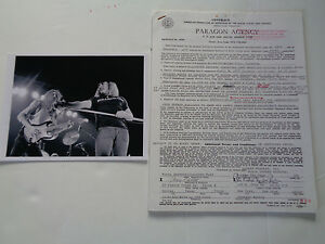LYNYRD SKYNYRD ORIGINAL 1975 CONCERT CONTRACTS 60+TO CHOOSE SEE FULL LIST HERE