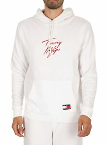 Tommy Hilfiger Men's Lounge Pullover Hoodie, White