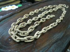 Vintage THAI WOODEN CHAIN Rare Carved Wood Folk Art Sculpture Carving 39""