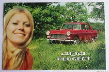 Brochure  publicitaire   -  PEUGEOT 404  modèle 70 - ( 9 / 69 - PP153 ) français