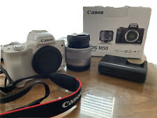 Canon EOS M50 24.1 MP Mirrorless Camera - White (Kit with  EF-M 15-45mm IS...