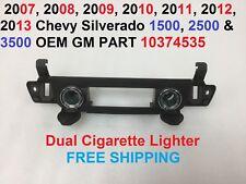 2007-2013 chevy silverado 1500 2500 3500 dual cigarette lighter 10374535