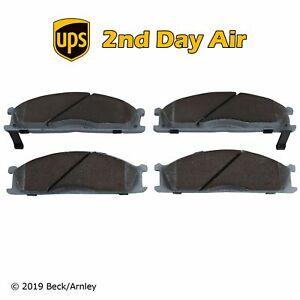 Beck/Arnley Ceramic Front Disc Brake Pad Set for Nissan Subaru 085-1296