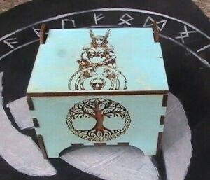 Rune Set With Wood Box, Viking Runes, Wooden Runes, Divination