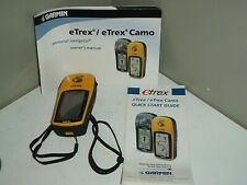 Garmin eTrex Handheld 12 Channel GPS System Handheld and Bundled w/  manuals