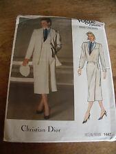 "PATRON VINTAGE  ""VOGUE CREATION  CHRISTIAN DIOR TAILLEUR CHIC ELEGANT  T12"