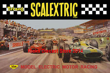 Scalextric 1960's Large Size Poster Advert Shop Display Sign Leaflet