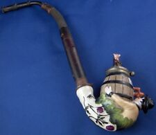 Antique 19thC German Porcelain Drinking Figural Pipe Porzellan Pfeifenstummel