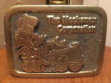VTG 1976 Mechanex Corporation Truck Driver Brass Belt Buckle ~Semi~Big Rig~Adezy