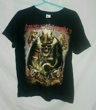 Avenged Sevenfold World Tour 2015 Graphic Tee Shirt Mens Size Medium