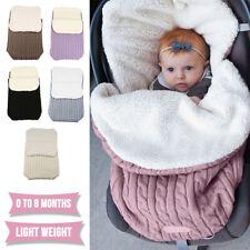 Baby Wickeldecke Außensack Schlafsack Pucksack Babydecke Kaschmir für 0-8 Monate