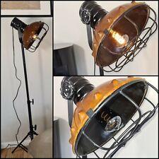 Stehlampe Metall Leder Industrie  Loft Berlin Bodenstehlampe höhenverstellbar 03