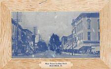 B99/ Bucyrus Ohio Postcard 1910 Main Street South Stores Fancy Edge