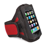 iPhone 4 4S RED Strong ArmBand Case Cover For SPORTS GYM BIKE JOGGING RUNNING