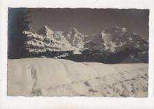 Jungfrau Moench Eiger Switzerland Vintage Rp Postcard W Gabi 226b