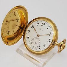 LONGINES TASCHENUHR IN 18ct GOLD - 3 Deckel - 52,8 mm - 96,5 g - um 1920