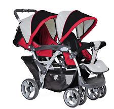 Geschwisterwagen Zwillingsbuggy Kinderwagen für Zwillinge NEU ovp 762475