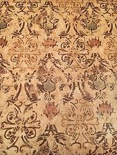 Vintage Wallpaper Brown Mediterranean Damask Rosie Pat Farrell Motif Ravenna
