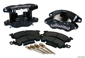 "WILWOOD BIG GM BRAKE CALIPER & PAD SET W/PINS,REAR,BLACK,1.28"" DISCS,D52"