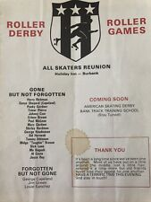 1986 Roller DERBY / Roller GAMES All Skaters REUNION PROGRAM in Burbank + PHOTOS