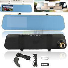 "4.3"" HD1080P Car DVR Video Recorder Camera Rearview Mirror Dash Cam G-sensor"