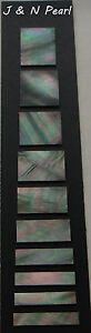 Black Mother of Pearl Block Inlay Set for Gibson Les Paul Custom Style,10pcs/set