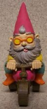 "Garden Accent Extra Large Tricycle Gnome NEW Freestanding 10 1/2"" tall"